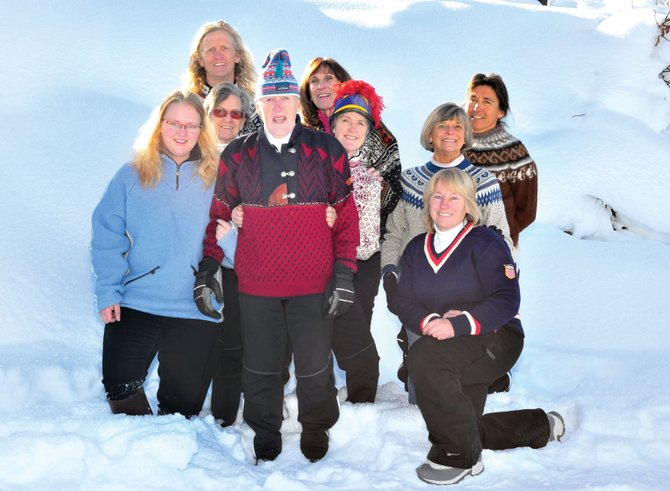 The staff of the Steamboat Ski Touring Center, Wiik family members and others involved with the 12th annual Ski For Women fundraiser pulled out their best sweaters to preview this year's event, which will take place Saturday and Sunday at the Ski Touring Center. Pictured, from left, are Kajsa Lindgren, Bitti Wiik, Doug Olson, Sven Wiik, Diane Moore, Birgetta Lindgren, Diane Holly, Betsy Chase and Betsy Frick.