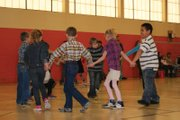 Sunset Elementary School second graders perform a dance Wednesday. Students in first through fifth grade gave dance performances all day for parents and family.
