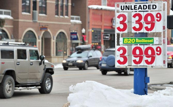 Gas prices have dropped in Steamboat Springs during the past month but still remain higher than the state average.