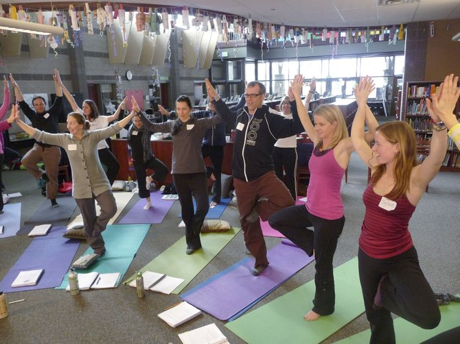 Steamboat Springs elementary school teachers take part in the Mindful Life School Program training with Sylvie Piquet, from right, and Kristen Race. The program was developed by Race, a Steamboat Springs resident, and its impact on academic achievement will be studied by Harvard University.