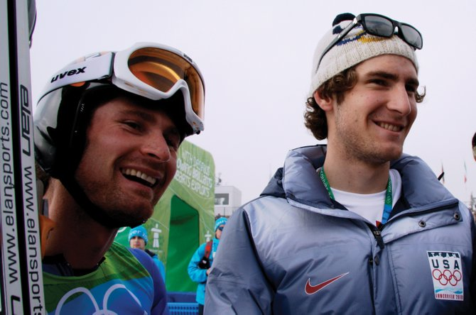 Bryan Fletcher, left, and brother Taylor Fletcher are leading the U.S. Nordic combined team heading into February's World Championships in Italy.