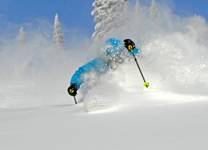 Steamboat Ski & Snowboard School Director Nelson Wingard skis Morningside on Tuesday.
