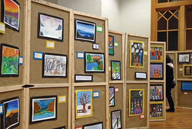 Children's art is on display at the center of Craig during last year's Cherish the Little Things children's art show. This year's show features two new aspects, children's workshops and a community art piece.