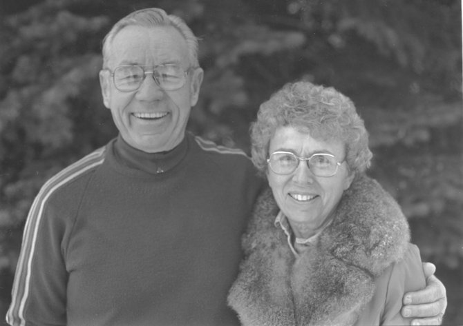 Bob and Frances Wither were the grand marshals for the 73rd annual Winter Carnival in 1986.
