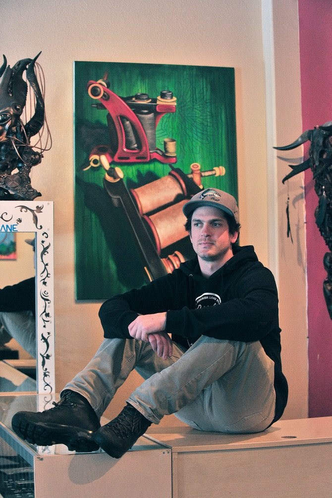 Local artist Milo Alfring will show his work at Urbane starting Friday.