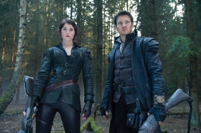 Siblings Gretel and Hansel (Gemma Arterton, Jeremy Renner) venture into the forest in Hansel &amp; Gretel: Witch Hunters. The movie is a twist on the classic fairy tale of the brother and sister growing up to become bounty hunters of evil witches.