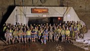 X crew pauses for a photo Thursday night before beginning their graveyard shift at Twentymile Mine. Twentymile Mine, owned by St. Louis-based Peabody Energy, set a company record for safety in 2012 and were rewarded with Peabody's President's Safety Award.
