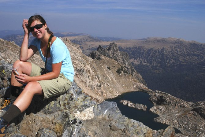 Lesley Chambers, who was diagnosed with leukemia Sept. 28, is pictured on Big Agnes in the Mount Zirkel Wilderness Area. A fundraiser is being held for Chambers on Sunday at Olympian Hall.