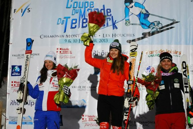 Steamboat Springs U.S. National Telemark team member Madi McKinstry, right, finished third in the Junior World Championships Sprint Classic on Feb. 9 in Chamonix, France.