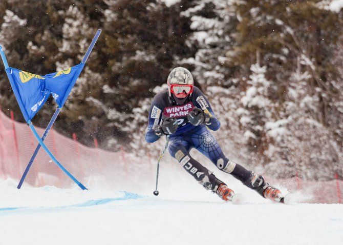 Steamboat Springs High School Alpine ski team member Peter White skis down the giant slalom course at the Colorado State Skiing Championships in Winter Park. White finished fourth.