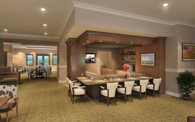 When complete in October, Casey's Pond Senior Living community will offer a full-service dining room and wine bistro.