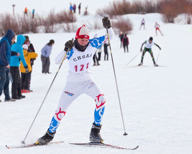 Steamboat Springs High School junior Peter White skis at the Colorado State Skiing Championships. White won the Skimeister this year.