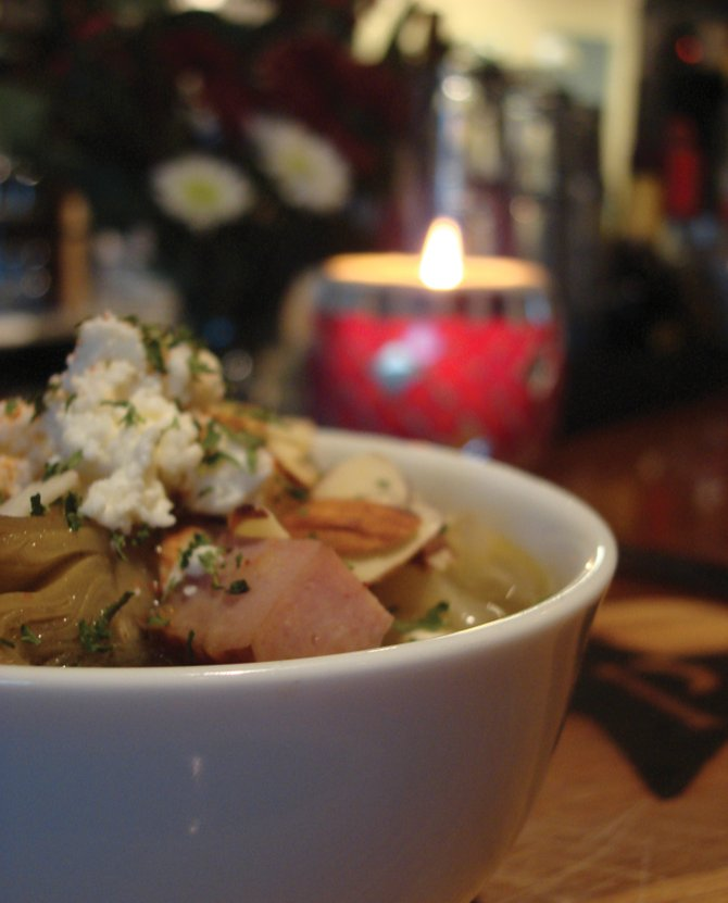 "The Paramount's sweet and spicy artichoke with ham soup was featured in the coffee table recipe book ""Ski Town Soups."" Vail's Jennie Iverson collected more than 100 recipes from restaurants in 60 ski resort towns for the book."