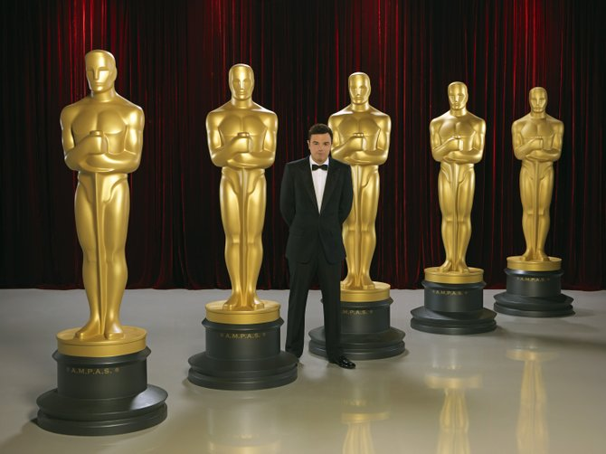 """Family Guy"" creator and Oscar nominee Seth MacFarlane will host the 85th Academy Awards on Sunday night on ABC. Among the honored films is ""Lincoln,"" which leads the race with 12 nominations."