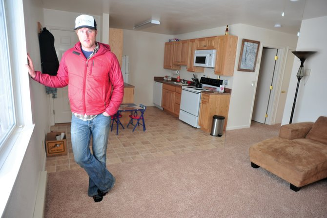 Yampa Valley Housing Authority Executive Director Jason Peasley stands inside a recently renovated unit in Hillside Village Apartments.