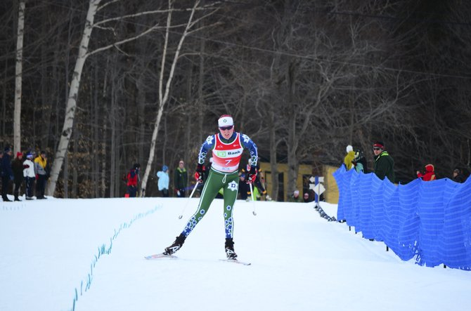 Steamboat Springs' Mary O'Connell nears the finish at the Middlebury Carnival earlier season. O'Connell won her second and third collegiate races of her career during the weekend skiing for Dartmouth. She enters the NCAA Championships as one of the top-ranked skiers from the Eastern division.