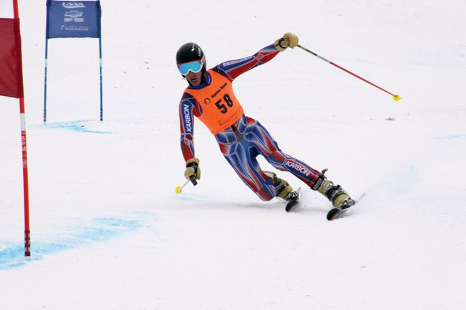 Steamboat Springs skier Jeffrey Gay makes a turn during the U.S. Telemark National Championships. Gay won two of the four races to be crowned the 2013 champion. 