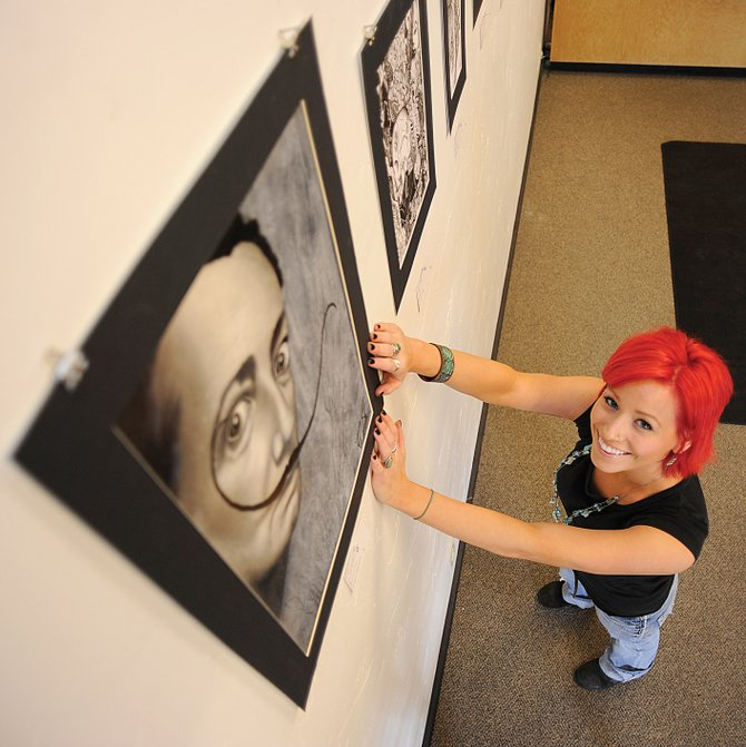 Steamboat Springs High School graduate Rashelle Stetman, who is studying art education in Denver, will display her work at Deluxe Tattoo in downtown Steamboat Springs. The show opens Friday, during First Friday Artwalk.