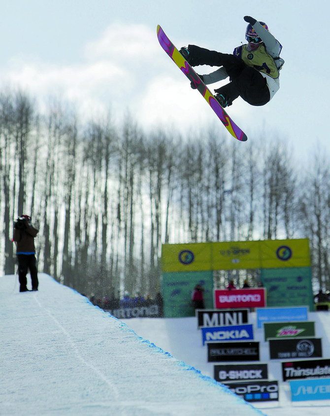Steamboat's Arielle Gold finished second during the Burton U.S. Open half-pipe semifinals Thursday at Goldern Peak. She is one of six women who advanced to the Saturday finals.