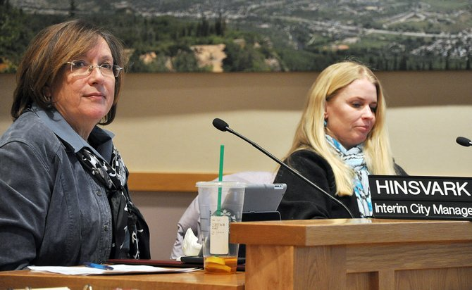The Steamboat Springs City Council on Tuesday night voted to offer Interim City Manager Deb Hinsvark, left, a new contract that will make her the city's permanent manager.