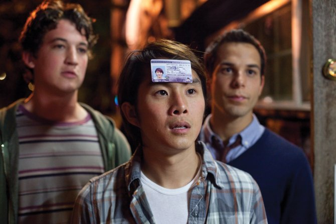 "College student Jeff Chang (Justin Chon) proudly displays his ID in ""21 and Over."" The movie is about two friends who experience a bizarre night celebrating their pal's 21st birthday."