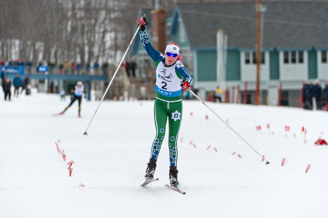 Steamboat Springs skier Mary O'Connell, now competing as a freshman for Dartmouth College, races in the Eastern Intercollegiate Ski Association Championships in February. O'Connell notched a second-place finish Thursday in the 5-kilometer classic event at the NCAA Skiing Championships.