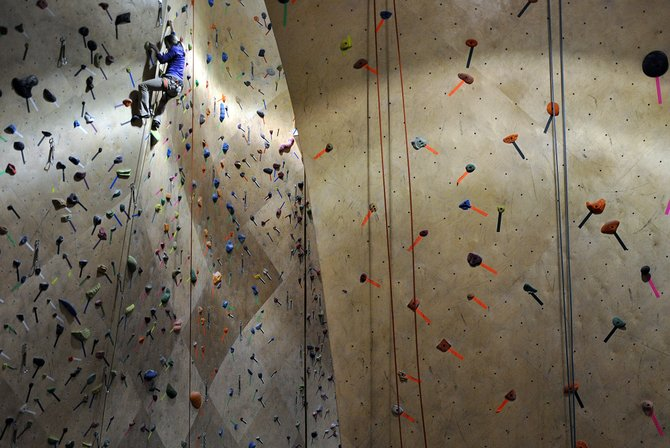 The Front Climbing Club in Ogden, Utah, opened in 2010 and is one of the latest symbols of Ogden's transformation from a railroad town to an outdoor recreation hub.