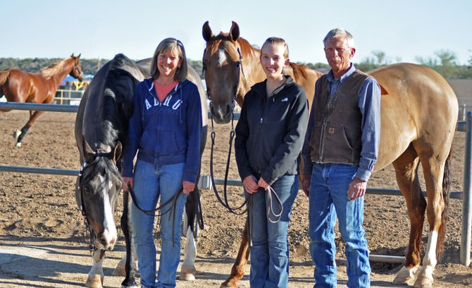 Medora, Ryan and Ross Fralick have made a tradition of heading west to compete at one of the largest single-breed shows in the world, the Scottsdale Arabian Horse Show.