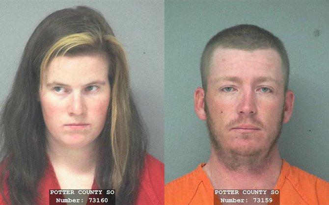 Kendra L. Parker, left, and Samuel L. Wisecup have been arrested on suspicion of aggravated motor vehicle theft in connection with the death of 32-year-old Yampa resident Gillian Gentile.