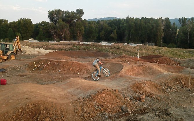 The Bear River Bike Park opened at the end of last summer after the local Inernational Mountain Bicycling Association chapter, Routt County Riders, along with the Steamboat Springs Parks, Open Space and Recreational Services Department built a beginner and intermediate pump track loop. Routt County Riders hopes to complete the project with the help of a grant from Bell, a helmet manufacturer offering funds to a project that receives the most online votes.