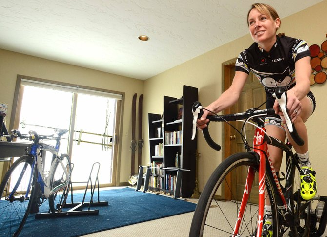 Never one to kill time sitting on the couch, Steamboat Springs' Amy Charity has been working even harder this winter to prepare for a season competing on a professional cycling team based in California. That's meant plenty of hours pedaling away in her basement.