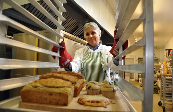 Bonnie Hansen, baking and catering manager for the Steamboat Springs School District, now is making gluten-free breads for students and staff members.