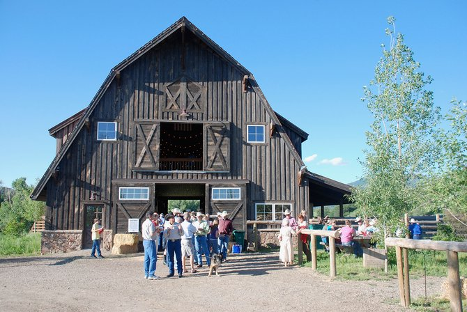Routt County residents gather for a community barn dance and picnic at Marabou in 2009. SF Capital Group, based in Atlanta, purchased 18 developer lots for $11.1 million and an additional bank-owned lot for $1.1 million March 22. They've since been removed from the Steamboat Springs multiple listing service until market conditions improve.