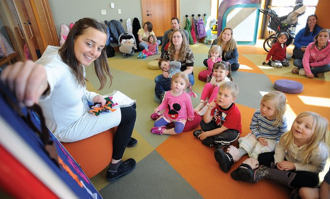 Sarah Kostin leads story-time at Bud Werner Memorial Library. In 2012, the downtown Steamboat library offered 465 children's programs — just one of several areas where growth emerged after the 21,000-square-foot expansion opened in 2008.