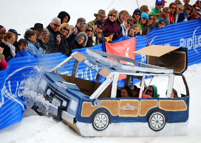 The annual Cardboard Classic race — which features crafts constructed with cardboard, tape, glue and string — is at 11 a.m. Saturday at the base of Steamboat Ski Area.