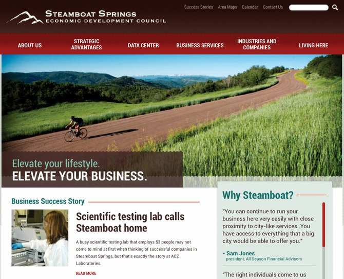 The Steamboat Springs Chamber Resort Association recently redesigned the Economic Development Council's website, www.steamboatbiz.com.