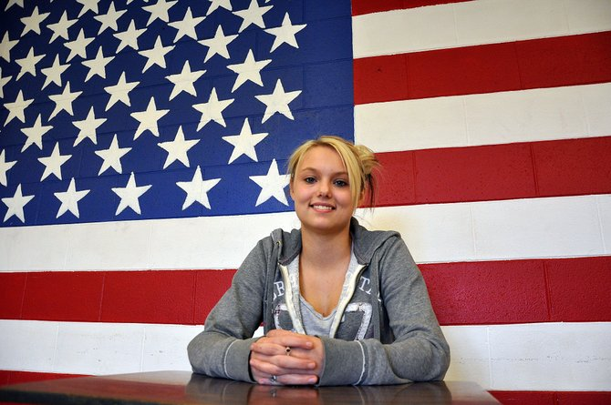 Hayden High School junior Virginia Jones is among a small group of Routt County high school students who are considering a future career in the military. Jones has taken the initial steps and tests required to join the Army and Navy.