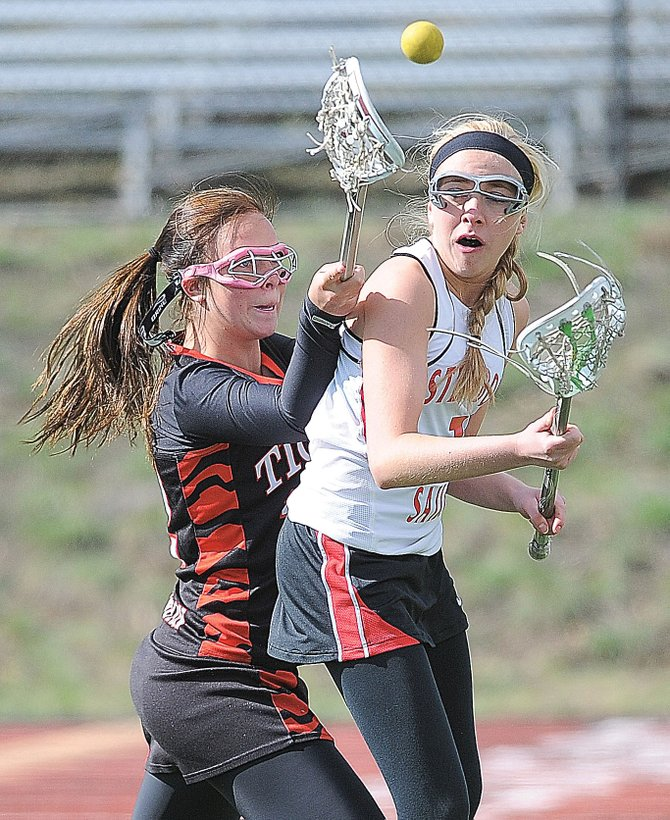 Steamboat Springs High School's Dani Flax passes the ball to a teammate during Wednesday afternoon's game against Grand Junction at Gardner Field. The Sailors lost, 15-10.