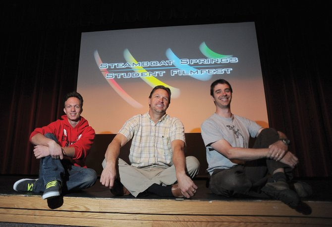 Danny Kramer, from left, Steve Moos and Kelly Anzalone are hoping for big things from the Steamboat Springs Student Film Festival, which takes place at 6:30 p.m. Saturday in the Steamboat Springs High School auditorium.