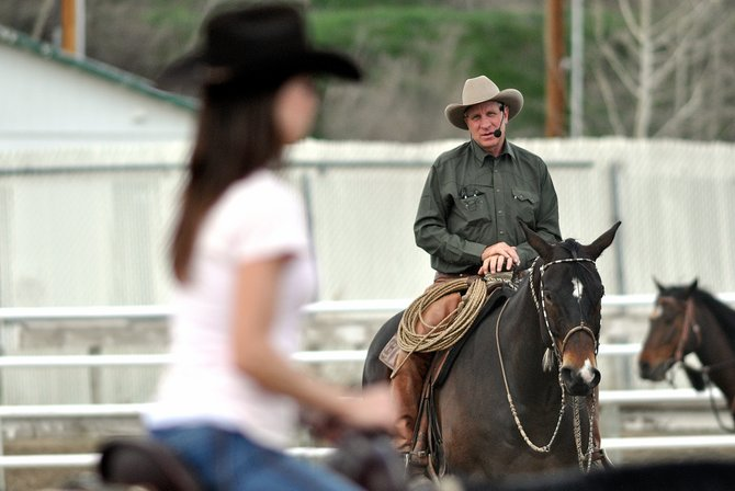 Buck Brannaman leads a horsemanship clinic Sunday in Hayden. The clinic is an economic boon in the West Routt County town and has an international following.