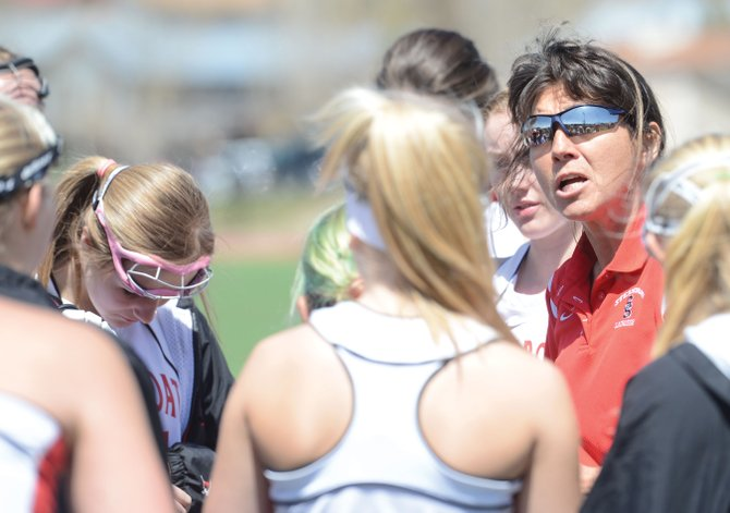 Steamboat Springs High School girls lacrosse coach Betsy Frick, center, led the Sailors to a 6-9 record in just their second season playing a full varsity schedule.