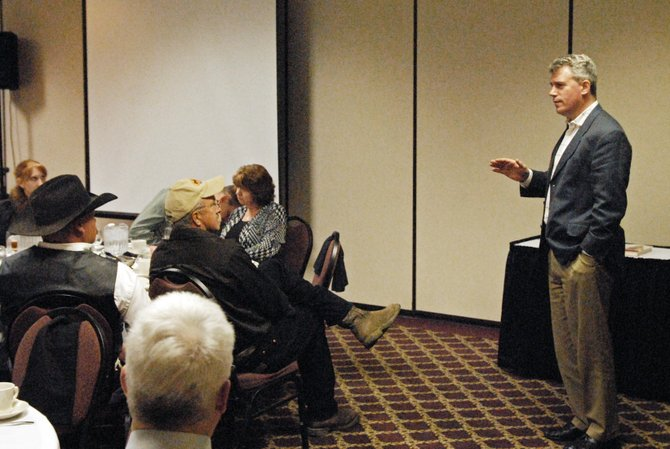 Republican Secretary of State Scott Gessler was the featured speaker Saturday during the annual Lincoln Day Dinner at the Holiday Inn of Craig. During his address, Gessler criticized the state Legislature and Gov. John Hickenlooper for passing sweeping changes to Colorado's elections laws.