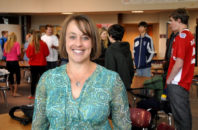 Steamboat Springs High School counselor Shelby DeWolfe was named the Steamboat Springs School District's Educator of the Year. DeWolfe started with the district six years ago and works with at-risk students.