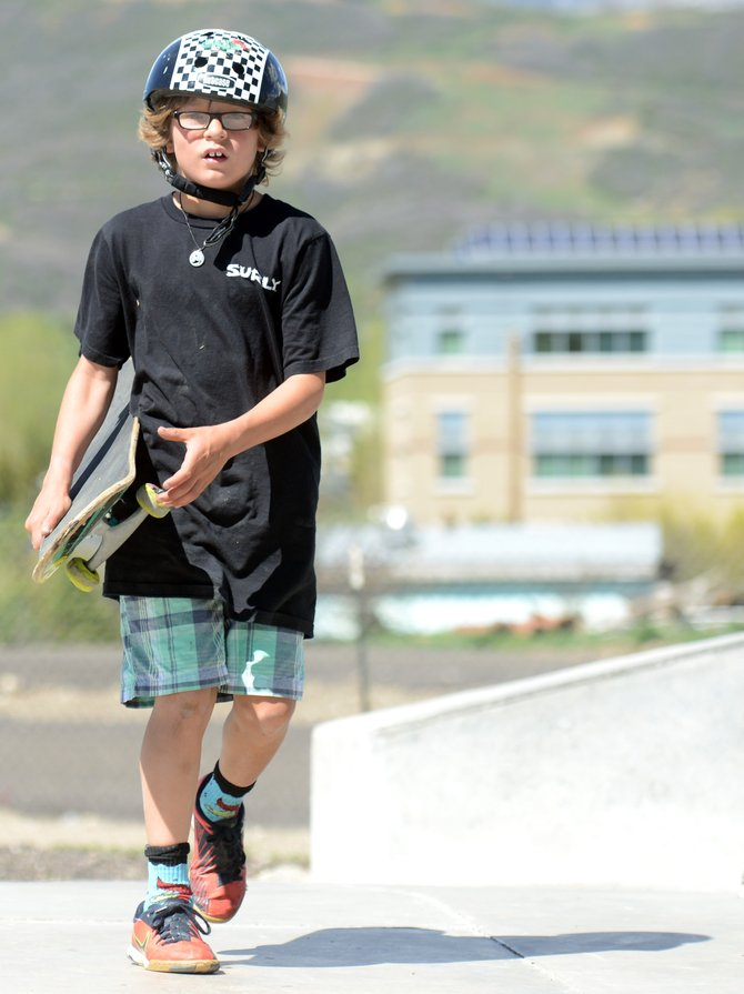 Asher Lesyshen-Kirlan, 9, pictured May 23 at Bear River Skate Park, was killed Wednesday morning in a suspected homicide, according to the Routt County Sheriff's Office.