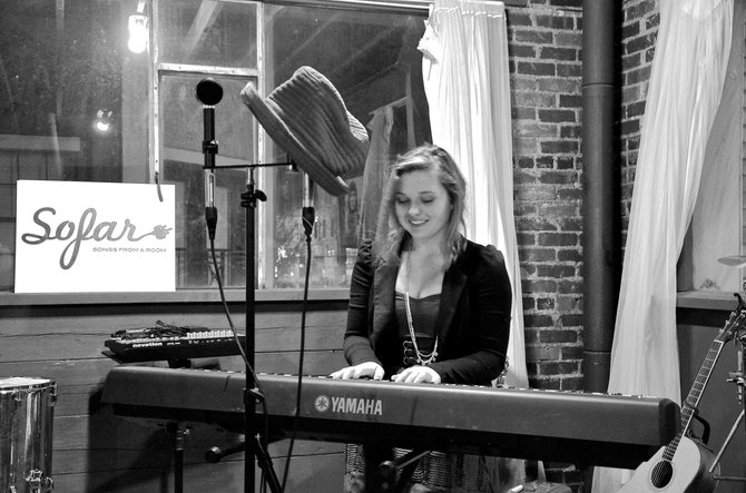 "Katie Ross performs on piano at a show earlier this year. Ross, a 2012 Steamboat Springs High School graduate, recently had her song ""Sailing Ships"" released on iTunes. Ross also is working on an album expected to debut in the fall."
