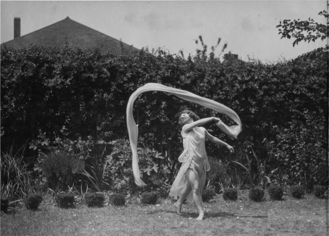 A dancer performs during the early days of Perry-Mansfield in the 1920s.