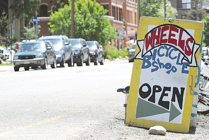 A meeting Tuesday night at the Chief Theater addressed a number of ways that downtown businesses could improve this summer. One idea was to allow businesses to display sandwich boards in an effort to invite more pedestrians to stop into their stores and restaurants.