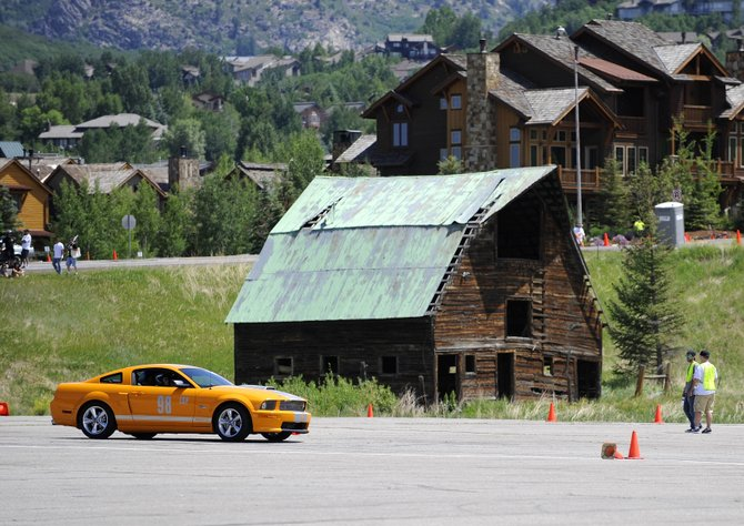 Greg Sheehan, of Denver, drives his 2008 Ford Mustang Shelby GT around an autocross course at the Meadows Parking Lot in Steamboat Springs during 2012's Mustang Rally. This year's Mustang Roundup Show 'n' Shine is from 10:30 a.m. to 3 p.m. Saturday on Lincoln Avenue in downtown Steamboat.