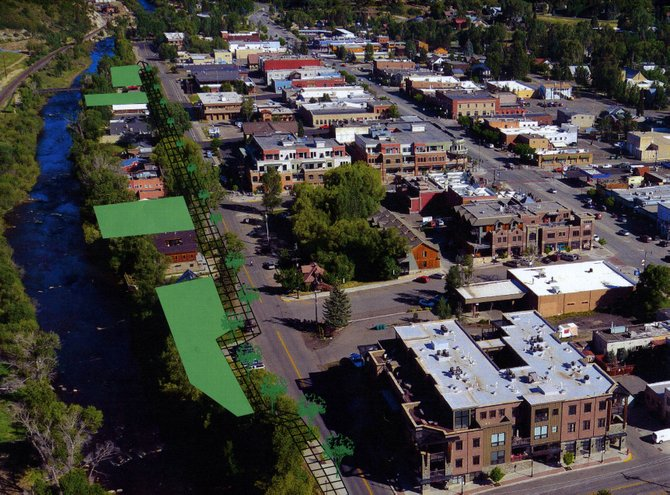 If the Yampa Street promenade is selected to receive a portion of the accommodations tax dollars, planners say the project could be completed as early as fall 2015. It would entail adding four new riverside parks, each with a different purpose, on Sixth, Seventh, Ninth and 10th streets.