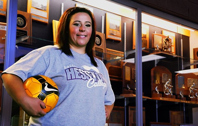 "Moffat County High School alumnus and star soccer goalie Skylar Tripp signed her name to the Hesston College Larks roster Monday afternoon after two months of frequent communication with Larks women's soccer head coach Bryan Kerh. ""It's really nice to have that recognition as a keeper,"" Tripp said."